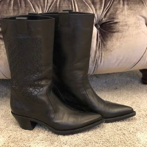 CHANEL mid-calf boots